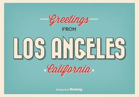 Los angeles retro greeting illustration vecteur