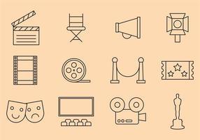 Icônes de films vectoriels vecteur