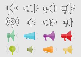 Icônes de vecteur de mégaphone