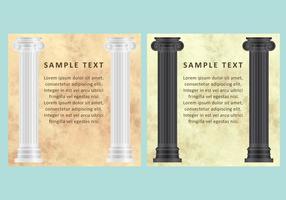 Vecteurs de marbre et de colonnes vecteur