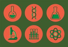 Ensemble d'icônes vecteur de laboratoire