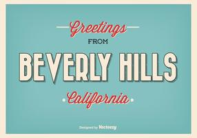 Rétro style beverly hills greeting illustration vecteur
