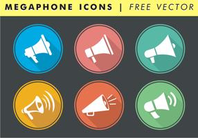 Icônes de mégaphone vecteur gratuit