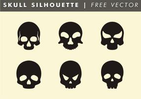 Vecteur libre de silhouette de crâne