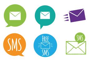 Ensemble de vecteur d'icône de SMS gratuit
