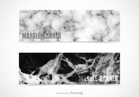 Bannières vectorielles en marbre gratuites vecteur