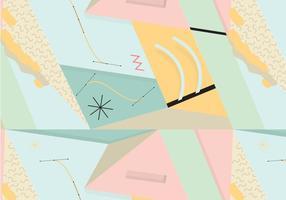 Contexte de motif abstrait des années 80 vecteur