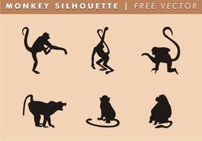 Vecteur libre de silhouette de singe