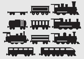 Vecteurs de silhouette de train vecteur