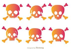 Icônes de vecteur crâne crossbone