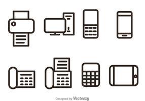 Écoute des icônes vectorielles du bureau et de l'entreprise vecteur