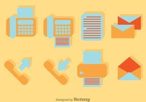 Icônes plates du bureau vectoriel