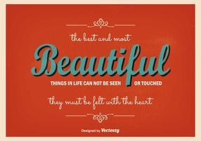 Affiche typographique vintage