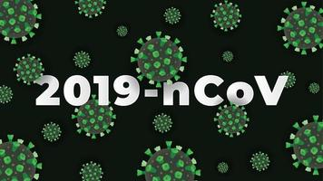 fond de coronavirus vert
