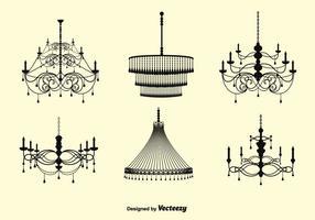 Ensemble de chandelier en cristal gratuit vecteur