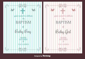 Invitation de vecteur de baptême