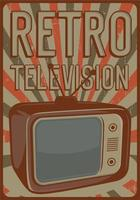 affiche de télévision rétro vecteur