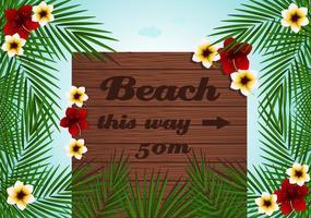 Vector Billboard de plage