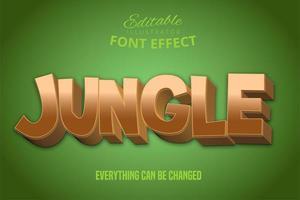 effet de texte jungle dorée