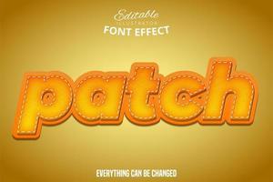 effet de texte patch orange vecteur
