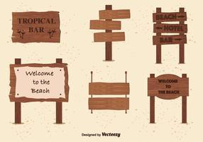 Billboard pour les vecteurs de plage vecteur