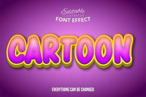 effet de texte de dessin animé texturé dégradé vecteur