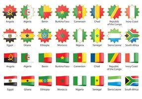 Vecteurs de drapeau africain vecteur