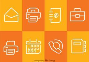 Vecteurs d'affaires et d'objets de bureau vecteur