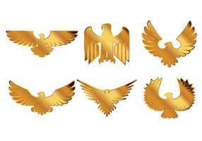 Beaux vecteurs d'insignes d'aigle vecteur