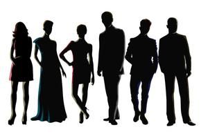 Vecteurs de silhouette masculine et féminine