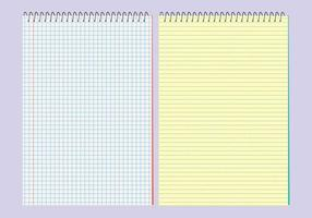 Modèles de blocs-notes vectoriels vecteur