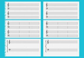 Fiches de musique vectorielle