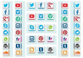 Vecteurs de ruban de médias sociaux vecteur