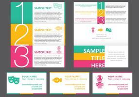 Brochure horizontale brillante