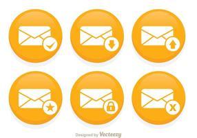 Ensemble de boutons vectoriels SMS vecteur