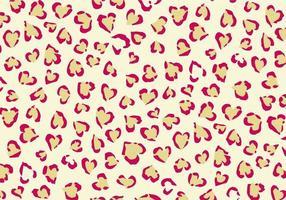 Imprimé léopard avec coeur fond vecteur