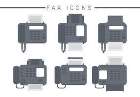 Vecteurs d'icônes de télécopie vecteur
