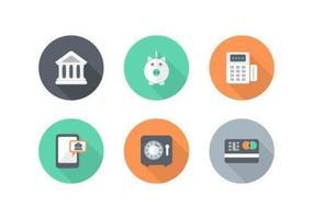Icônes de vecteur de financement gratuit