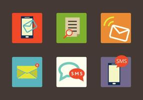 Ensemble d'icônes de vecteur SMS