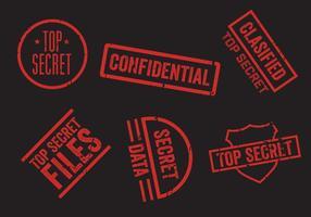 Ensemble de vecteur de timbres top secret