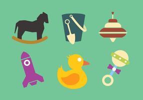 Collection de jouets vectoriels vecteur