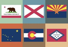 Collection de drapeau