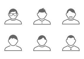 Ensemble vectoriel d'icônes d'homme