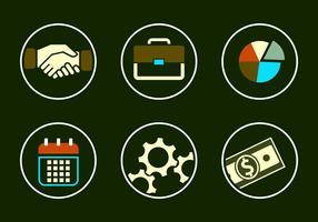 Collection de vecteurs d'icônes commerciales