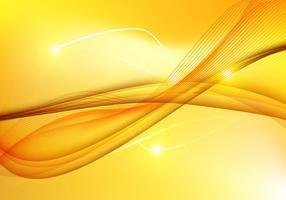 Résumé Yellow Wave background vecteur