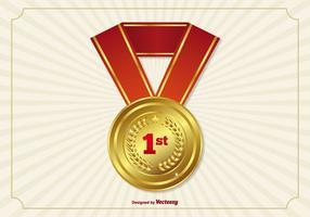 Première place Ruban / Médaille vecteur