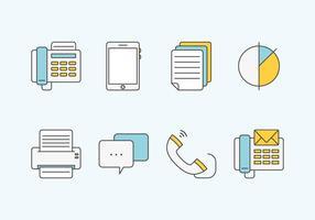 Icônes de vecteur de communication