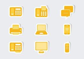 Vecteurs d'autocollants d'icônes de communication