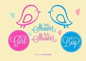 Doodles de douche de bébé vecteur