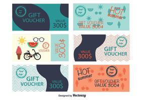 Chèques-cadeaux d'été vecteur